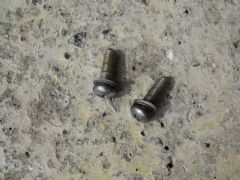 MAZDA MX5 EUNOS (1989 - 2005) BOLTS REAR DECK PLATE SCREWS - PAIR - CHROME